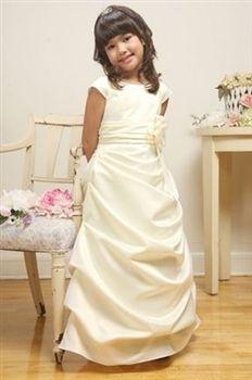 Elaine Ivory Flower Girl Dress