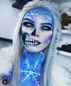 Zorin blitzz-IG – Halloween Make Up Ideas Extreme Makeup, Scary Makeup, Makeup Art, Makeup Ideas, Ice Makeup, Frozen Makeup, Horror Makeup, Beauty Makeup, Cool Makeup Looks
