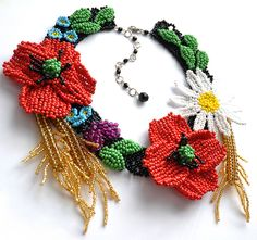 Beadwork by Lucie Avramova. Wealth Of The Country Necklace