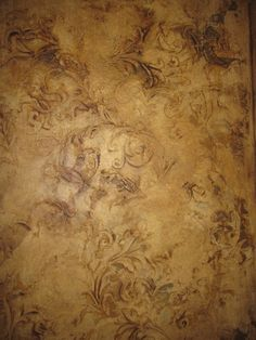 easy venetian plaster stencil raised | Venetian plaster with raised stencils and heavy wax.