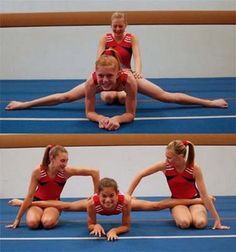 Be sure your body is perpendicular to your legs - you don't want your hips to be far back or leaning forward. Keep your knees straight and toes pointed. Have a friend gently push on your legs to help you get closer to the ground. Gymnastics Grips, Gymnastics Stretches, Dance Stretches, Gymnastics Flexibility, Acrobatic Gymnastics, Olympic Gymnastics, Flexibility Workout, Cheerleading Stretching, Olympic Games