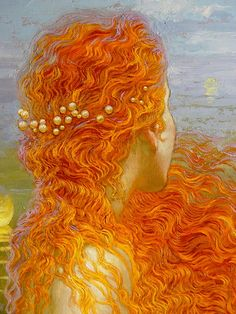 Water Music: Suite No. 3 in G major, HWV 350 - III. Menuet I by George Frideric Handel and Mermaid (Sirène) Paintings by Victor Nizovtsev (Russian Painter) Victor Nizovtsev, Illustration Art, Illustrations, Arte Pop, Mermaid Art, Mermaid Paintings, American Artists, Oeuvre D'art, Painting & Drawing