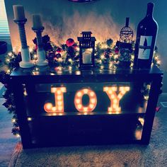 Light up letters to add a little sparkle to the Christmas season!