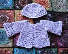 Gilet et Bonnet pour bébé prématuré au crochet Bonnet Crochet, Crochet Baby, Free Crochet, Cardigan Au Crochet, Knitting, Hats, Sweaters, Clothes, Images