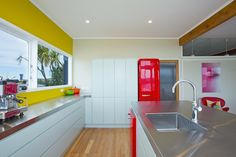Sally Steer Design Wellington, New Zealand. Kitchen Inspiration, Kitchen Ideas, Design Kitchen, Sally, Kitchens, Kitchen Cabinets, Colour, Furniture, Home Decor
