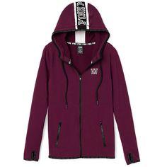 Hoodies and Sweatshirts - PINK ($60) ❤ liked on Polyvore featuring tops, hoodies, sweatshirts, crew-neck sweatshirts, purple hoodie, hoodie sweatshirts, purple crewneck sweatshirt and pink sweatshirts
