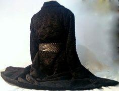BLACK FAUX SYNTHETIC ASTRAKHAN CARACUL BROADTAIL COAT size 2XL + LEATHER BELT #fauxfur #BasicCoat #eBay #Fashion