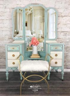 26 great ideas for makeup vanity antique great ideas for makeup vanity antique boudoir makeupSOLD Contact me for custom vanity in your colored antique vanity / vanity Makeup Vanity Antique Painted Furniture 15 Best Painting Wooden Furniture, Table Furniture, Rustic Furniture, Vintage Furniture, Living Room Furniture, Home Furniture, Modern Furniture, Outdoor Furniture, Furniture Ideas