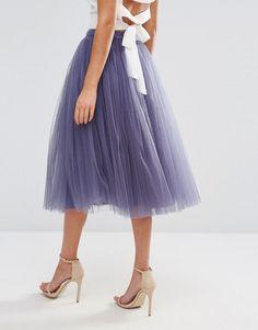 Image 2 ofLittle Mistress Tulle Midi Skirt