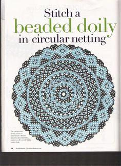 Risultati immagini per stitch a beaded doily in circular netting