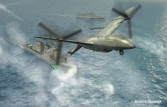DARPA has contracted Northrop Grumman in Maryland to build drone carrier ships that can act as aircraft carriers for drones as part of its Tern program. Tern, named for the bird that can stay airborne far longer than most other birds, is aiming to build small ships that can extend the range of unmanned aerial systems, drones, far beyond the distance that land bases can offer, much the way that traditional aircraft carriers do for manned aircraft.