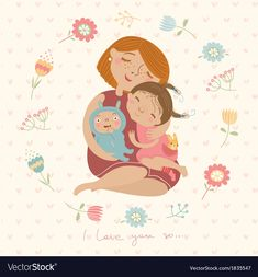 Find mommy stock images in HD and millions of other royalty-free stock photos, illustrations and vectors in the Shutterstock collection. Thousands of new, high-quality pictures added every day. Illustration Mignonne, Cute Illustration, Difficult Children, My Children, Helicopter Parent, Parent Resources, Parenting Styles, Marriage And Family, Mother And Child