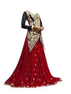 Stylish Ethnic Maroon And Black  Dress  #craftshopsindia