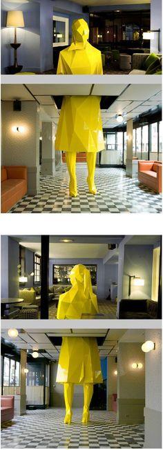 Sophie, sculpture by the artist Xavier Veilhan Le Germain restaurant  Paris
