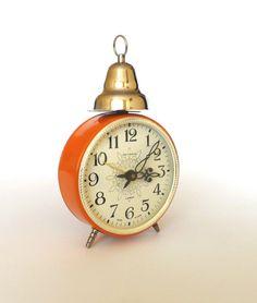 JANTAR BELL Vintage Soviet Russian Alarm Clock via Etsy