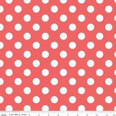 Riley Blake fabric medium dot in rouge