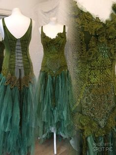 SOLD Boho wedding dress green and turqouise turquoise Green Wedding Dresses, Boho Wedding Dress, Boho Dress, Pretty Outfits, Beautiful Outfits, Costume Steampunk, Faerie Costume, Fairy Costumes, Victorian Gown