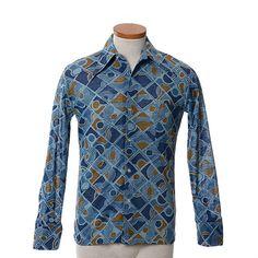 Vintage 60s 70s Mod Geometric Disco Shirt by CkshopperVintage