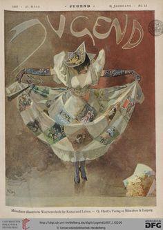 Jugend: Münchner illustrierte Wochenschrift für Kunst und Leben (2.1897, Band 1 (Nr. 1-26)) (G 5442-10 Folio RES)