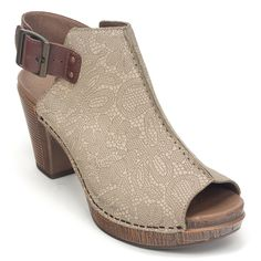 Dansko Reggie Womens Leather Peep Toe Bootie Shoe | Simons Shoes