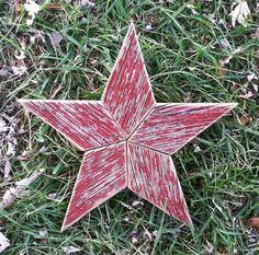 Reclaimed Wood  Wooden Star Tree Topper by BaldMansMarkings, $25.00