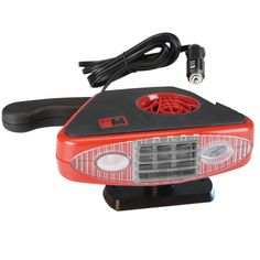 Battery Operated 12-Volt Auto Heater Handle for Defrosting and LED Light for quickly warming up  your car or truck car heater! This portable car heater is suitable for adding on or replacing your car's current heater.