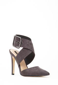 Sandalias Cruzadas Efecto Ante - calzado - 2000118507 - Forever 21 EU