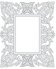 Untitled Document Mirror Photo Frames, Picture Frames, Kirigami, Wooden Crafts, Diy And Crafts, Parchment Craft, Border Pattern, Borders And Frames, Scroll Saw Patterns