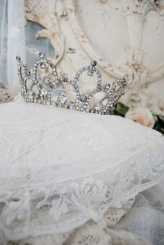crown on a pillow ♡ Lord help me to be a crown of beauty in your hand, so that I may hear you say well done and cast my crown of life at your. feet in heaven.