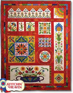Fiesta Mexico! Block of the Month- Stitchin Heaven