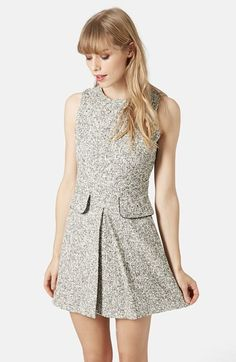 Topshop Bouclé Shift Dress available at #Nordstrom