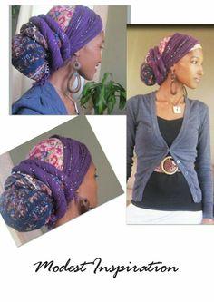 Love the headwrap! Head Wrap Scarf, Head Scarfs, Scarves, Pelo Afro, African Head Wraps, Hair Cover, Turban Style, Scarf Hairstyles, Scarf Styles