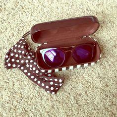 "Henri Bendel ""Broadway"" Sunglasses Purple Henri Bendel Broadway sunglasses. Only worn a few times. Like new. Comes with case and sunglasses bag. Super cute sunglasses, but they don't look good on me. henri bendel Accessories Sunglasses"