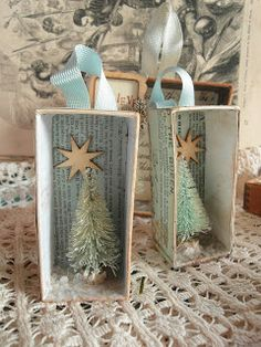 The past few weeks have seen a hive of activity in my workroom and I have now completed a large collection of Christmas decorations for. Christmas Shadow Boxes, Mini Christmas Tree, Christmas Makes, Vintage Christmas Ornaments, Retro Christmas, All Things Christmas, Christmas Holidays, Christmas Decorations, Christmas Shopping