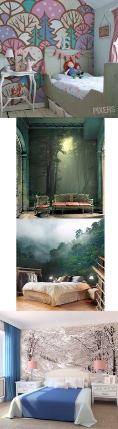 W środku lasu. Słowo las budzi wiele skojarzeń. Dla jednych będzie to amazońska dżungla, dla innych kilka drzew rosnących obok domu lub obraz gałęzi przysypanej śniegiem. Motyw lasu od zawsze inspiruje projektantów wnętrz, tym razem w postaci kolekcji tapet http://www.eksmagazyn.pl/design/wnetrza/w-srodku-lasu/? || #design #interior #tapety #las