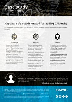 Case Study : Mapping a clear path forward for leading University - Xtravirt's detailed strategy and roadmap help achieve a higher level of business process maturity