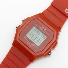 Yelp swag - do you have your #Yelp watch? #TimeToYelp