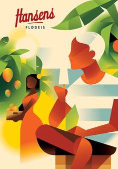 The poster work of Danish illustrtor Mads Berg