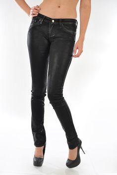 Black Coating Skinny Jeans