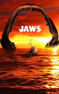 Jaws - Spielberg Classic Horror Movies, Horror Films, Movie Poster Art, Film Posters, Jaws Movie, Jaws Film, Cinema, Film Images, Alternative Movie Posters
