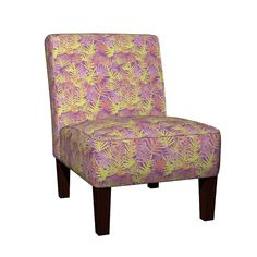 Maran Slipper Chair featuring Bodacious Ferns Gold by Indian River Textiles | Roostery Home Decor.  LIMITED EDITION fabric, buy before 30-September-2016.