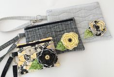 In The Hoop :: Purses & Wristlets :: In the Hoop Wristlet Set - Embroidery Garden In the Hoop Machine Embroidery Designs