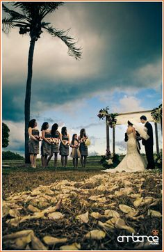 The Surf Club #ceremony #clouds #beach #wedding