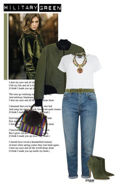 """""""Attention! Go Army Green"""" by marion-fashionista-diva-miller ❤ liked on Polyvore featuring moda, Garnier, Les Petits Joueurs, rag & bone, Topshop, Gianvito Rossi, Vionnet, Chico's y Gogreen"""