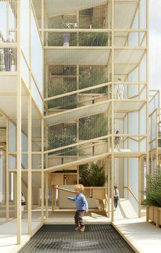 A Thousand Yards Pavilion by Penda