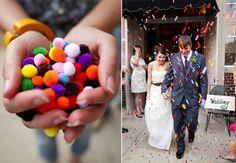 Fun Ideas to Create a Memorable Wedding Send-Off: Mini Pom-Poms