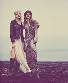 "Mystical Holiday – Top models including Karlie Kloss, Martha Hunt, Ajak Deng and Anna Selezneva are enlisted for the new ""Mystical Holiday"" lookbook from Free People. Karlie and Martha seem to be a favorite of the fashion brand, appearing in multiple catalogues throughout the years. This holiday, the Free People girl gets inspired by mystic elements like earth, water, air, fire and spirit with an outing of airy dresses, heavy knits and bold costume jewelry."