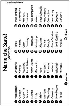 United States Map Quiz & Worksheet: USA Map Test with