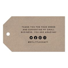 Business Thank You Notes, Small Business Cards, Small Business Plan, Business Gifts, Craft Business, Thank You Card Design, Personalized Gift Tags, Business Inspiration, Product Label