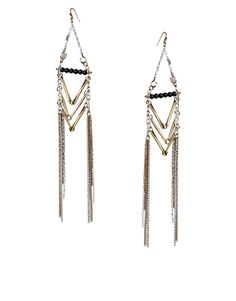 ASOS Arrow Tassel Earrings